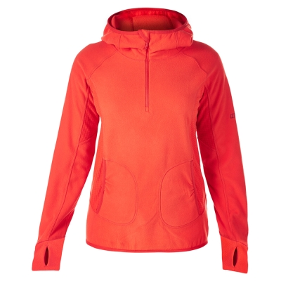 【Berghaus貝豪斯】女款PRISM  刷毛保暖連帽 上衣H51FC6-紅