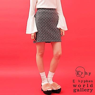 E hyphen 特色鋸齒圖案短裙