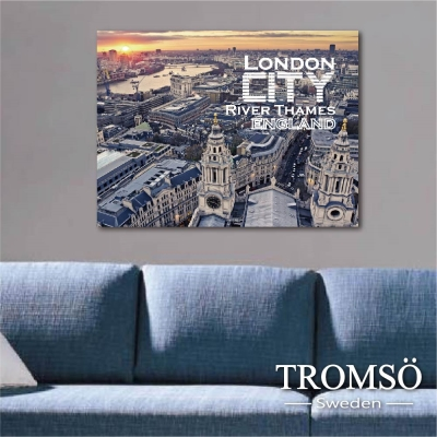 TROMSO時尚無框畫-文字倫敦