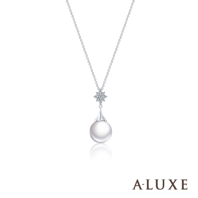 A-LUXE 亞立詩 寵愛系列BelovedIII 18K鑽石AKOYA珍珠項鍊