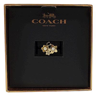 COACH 珠珠花朵造型戒指