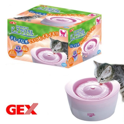 日本GEX 全貓用 活水過濾 循環淨水飲水器 1.8L