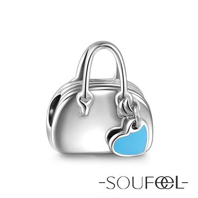SOUFEEL索菲爾 925純銀珠飾 我愛購物 串珠