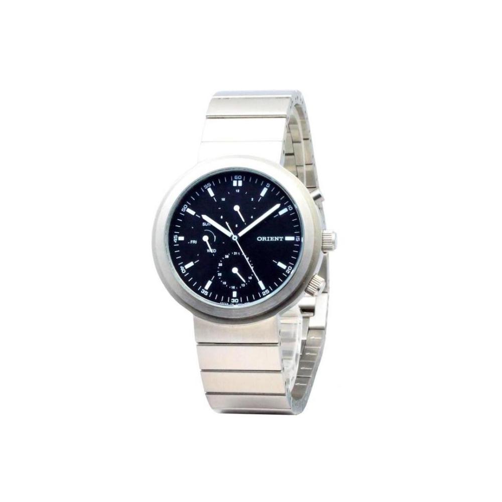 ORIENT 東方典範三眼時尚腕錶-黑/37mm