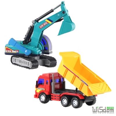 WISDOM 仿真磨輪動力車系列-大型磨輪砂石車挖土機組