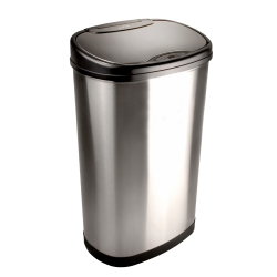 美國NINESTARS時尚不銹鋼感應垃圾桶50L