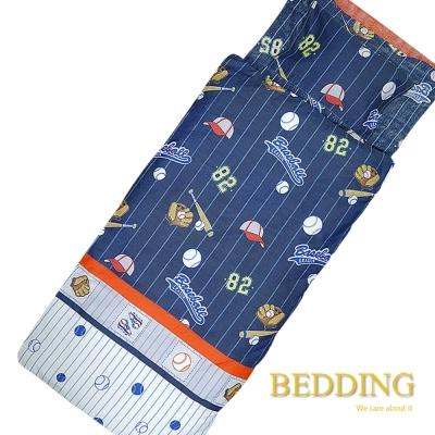 BEDDING 趣味棒球 100%棉多功能冬夏兩用鋪棉兒童睡袋