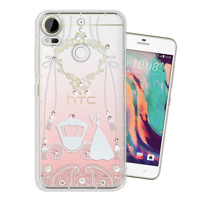 WT HTC Desire 10 Pro 5.5吋 奧地利水晶彩繪空壓手機殼(精...