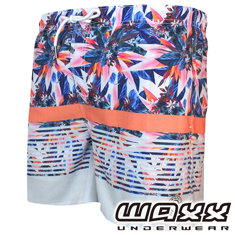 WAXX 熱浪系列-花花世界快乾型男海灘褲(15英吋)