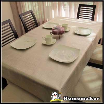 Homemaker-素面金屬桌巾 (長210cmX寬137cm)