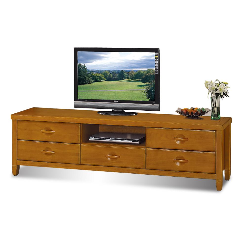 愛比家具 森杰6尺柚木色電視櫃/長櫃