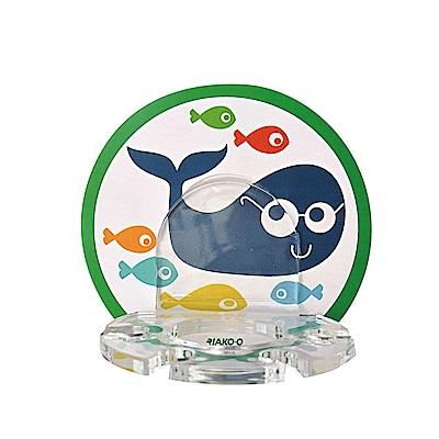 JAKO-O德國野酷 海底世界鯨魚壁貼牙刷架(可重複黏貼)
