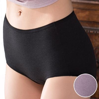 華歌爾 天絲竹炭 M-LL 中高腰三角褲 (紫)