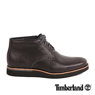Timberland 男款咖啡色粒面防水休閒鞋