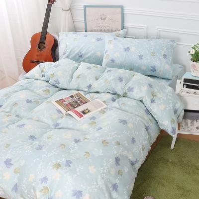 鴻宇HongYew 100%精梳棉 楓情萬種 雙人加大四件式兩用被床包組