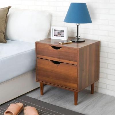 Homelike 瑞希二抽床頭櫃(二色可選)-48x40x54cm