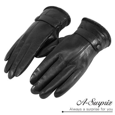 A-Surpriz-都會型男小羊皮手套-黑