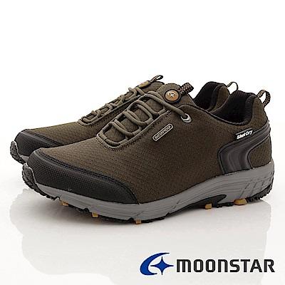 日本Moonstar戶外健走鞋-銀離子4E寬楦款-DM023卡其(男段)