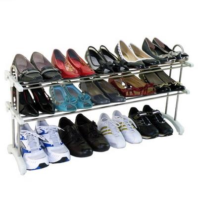 ★限殺★《鞋之寶》多用途不鏽鋼鞋架◢可伸縮調整