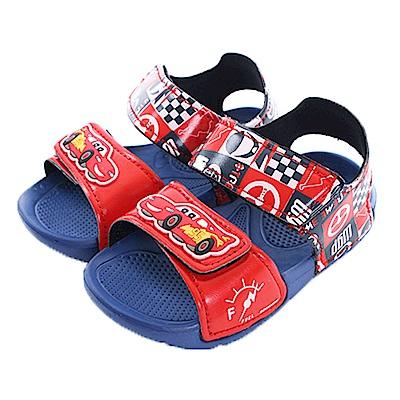 迪士尼閃電麥坤超輕量涼鞋 紅藍 sk0418魔法Baby