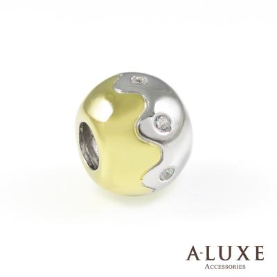 Charming系列 925純銀珠飾-金泡芙 Golden Puff