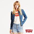 Levis 女款 高腰牛仔短褲 外露式排扣