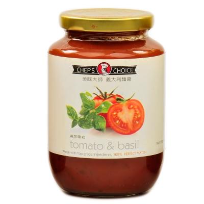 美味大師 義大利麵醬-蕃茄羅勒(470g)
