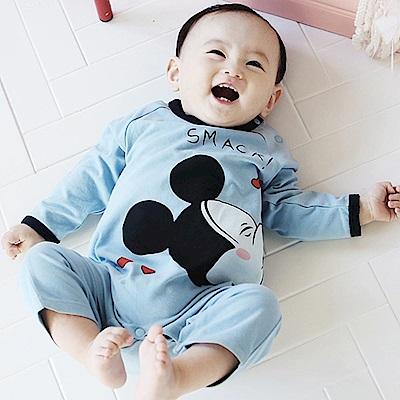 Baby unicorn 藍色米奇長袖連身衣