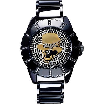 Relax Time 骷髏頭先生晶鑽帥性腕錶