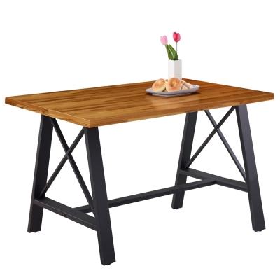 AT HOME-克德曼4.3尺柚木集層餐桌
