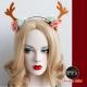 摩達客-聖誕麋鹿角花浪漫造型髮箍