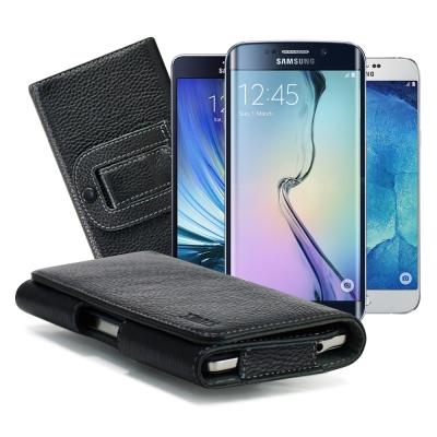 X mart 三星Galaxy A7/ A8 / S6 Edge+麗緻真皮腰掛皮...