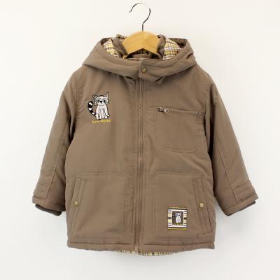 愛的世界 防風舖棉小浣熊長袖連帽外套 1-4歲