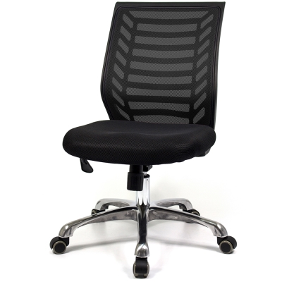 【福利品】愛倫國度 爵士鋁合金五爪腳系列電腦椅i-RS-301TG-黑