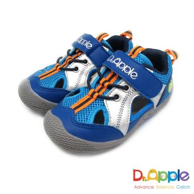 Dr. Apple 機能童鞋 經典微笑蘋果醫生休閒涼鞋款  藍