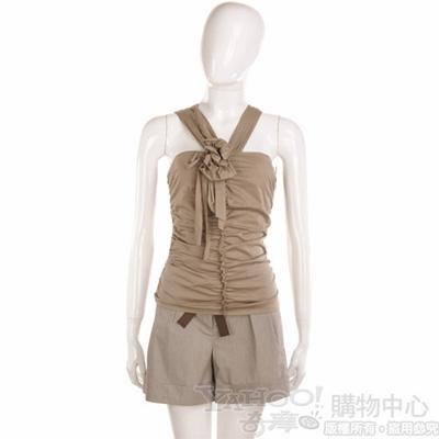 PHILOSOPHY 咖啡色條紋短褲