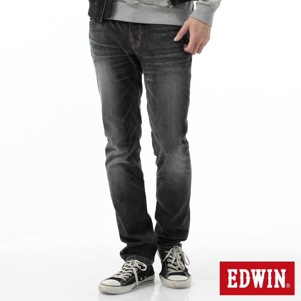 EDWIN 窄直筒 B.T.牛仔褲-男-灰色