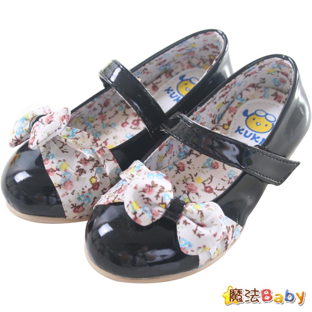 魔法Baby~【KUKI酷奇】甜美小碎花飾蝴蝶結淑女鞋~sh1054