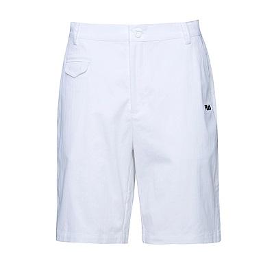 FILA 男平織短褲-白 1SHS-1425-WT