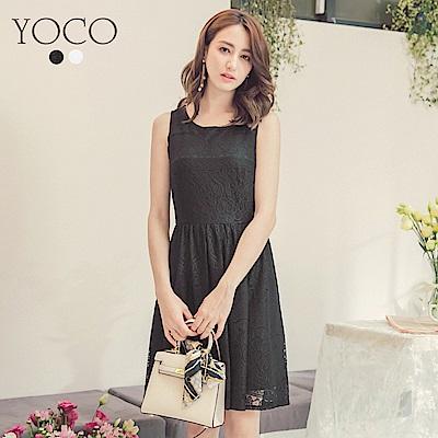 東京著衣-yoco 微甜美人蕾絲無袖洋裝-S.M.L(共二色)