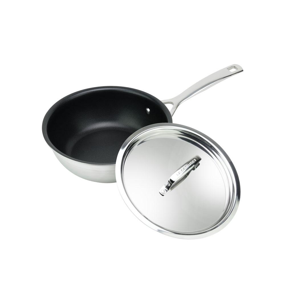 LE CREUSET Tri-ply TNS 完美不沾鍋單柄深炒鍋 20cm (附蓋)