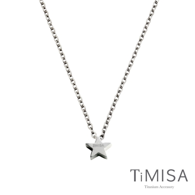 TiMISA 迷你幸運星 純鈦項鍊(雙色可選)