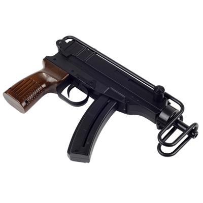 台灣製外銷版~仿木質握把蠍式收摺槍托烏茲造型空氣槍
