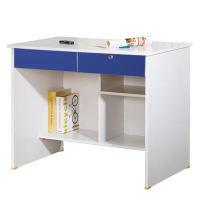 HOME-STYLE-知識泉源3尺電腦書桌-藍白