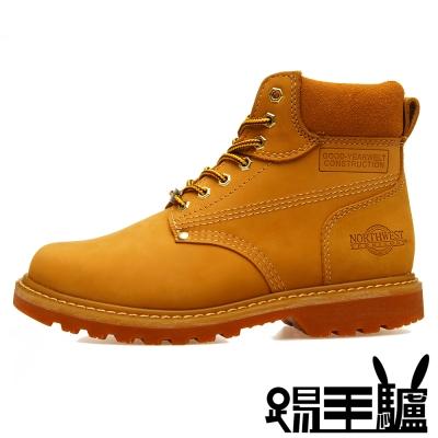 NORTHWEST 防潑水軟木填充美式經典牛皮男女登山鞋TM-8606S(金黃)