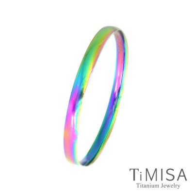 TiMISA 純真-薄版(極光) 純鈦手環
