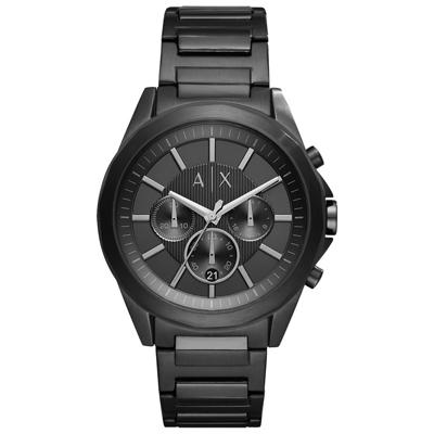 A│X Armani Exchange 低調奢華進行曲三眼腕錶-AX2601/43mm