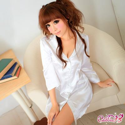 Caelia-情挑俏秘書-性感爆乳長襯衫
