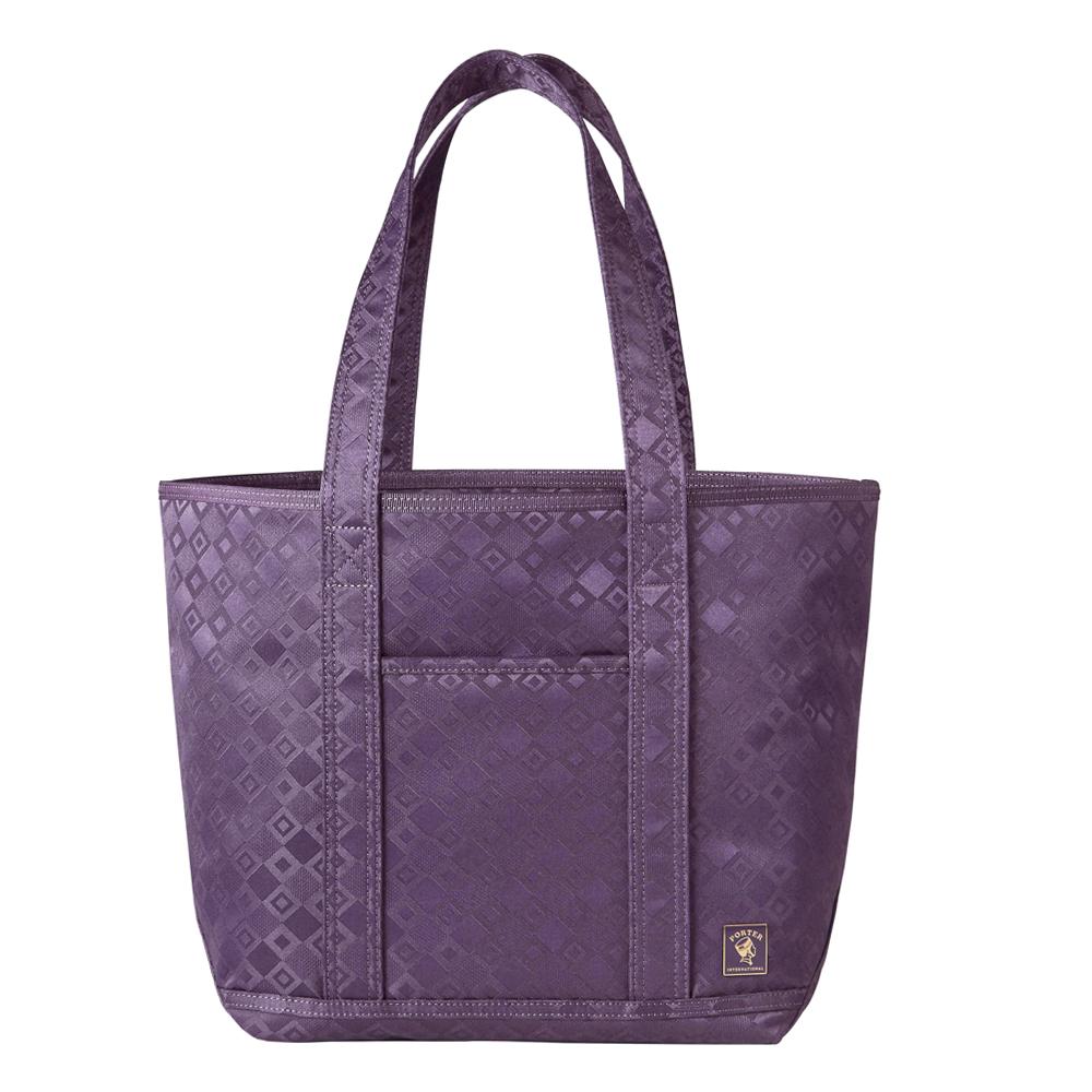 PORTER - 極緻魅力FEVER雙菱格緹花中型托特包 - 紫
