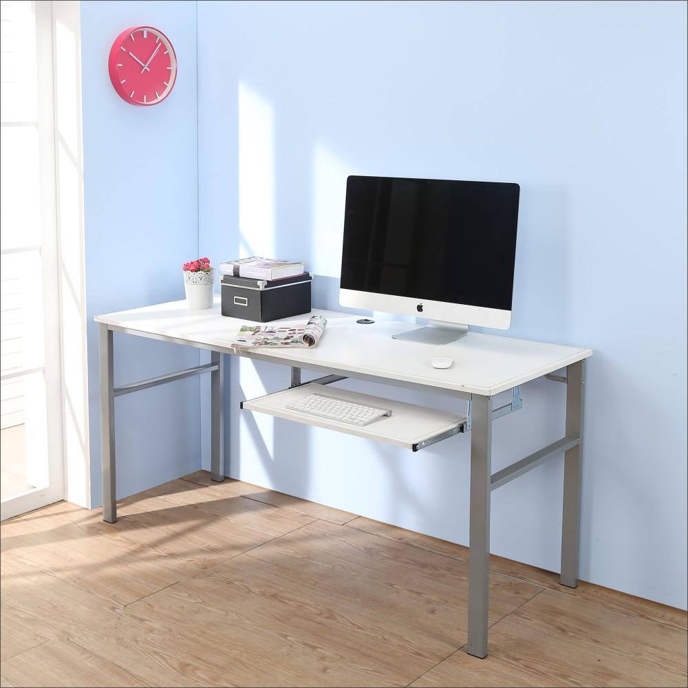 BuyJM低甲醛仿馬鞍皮160公分穩重型單鍵盤工作桌-DIY